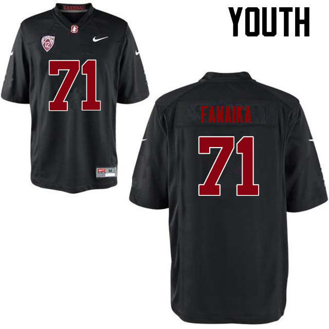 Youth Stanford Cardinal #71 Brandon Fanaika College Football Jerseys Sale-Black