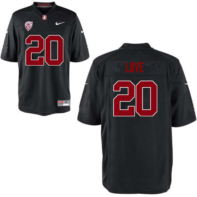 Men Stanford Cardinal #20 Bryce Love College Football Jerseys Sale-Black
