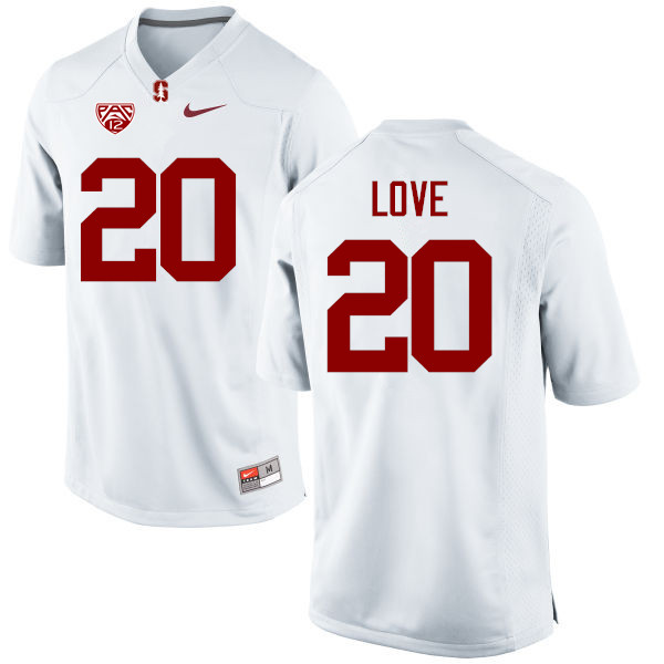 Men Stanford Cardinal #20 Bryce Love College Football Jerseys Sale-White