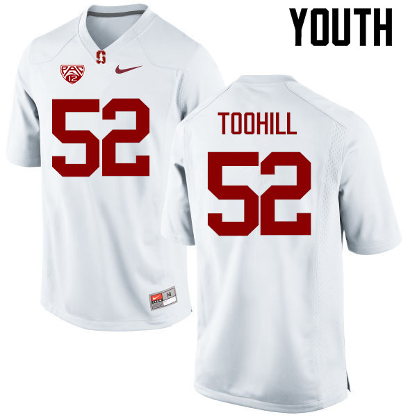 Youth Stanford Cardinal #52 Casey Toohill College Football Jerseys Sale-White