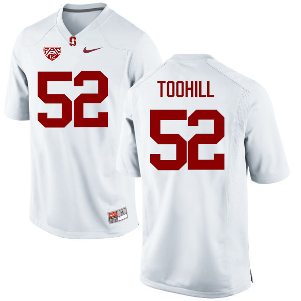 Men Stanford Cardinal #52 Casey Toohill College Football Jerseys Sale-White