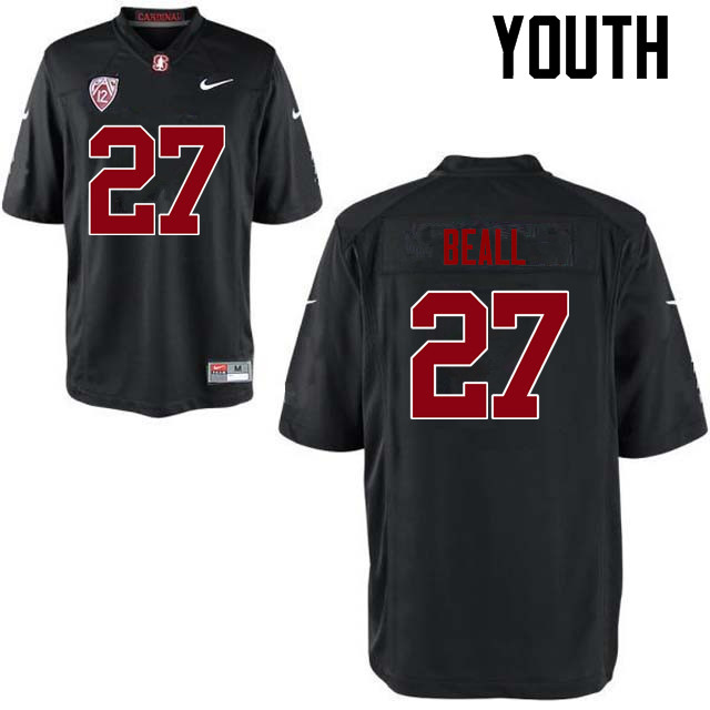 Youth Stanford Cardinal #27 Charlie Beall College Football Jerseys Sale-Black