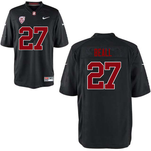 Men Stanford Cardinal #27 Charlie Beall College Football Jerseys Sale-Black
