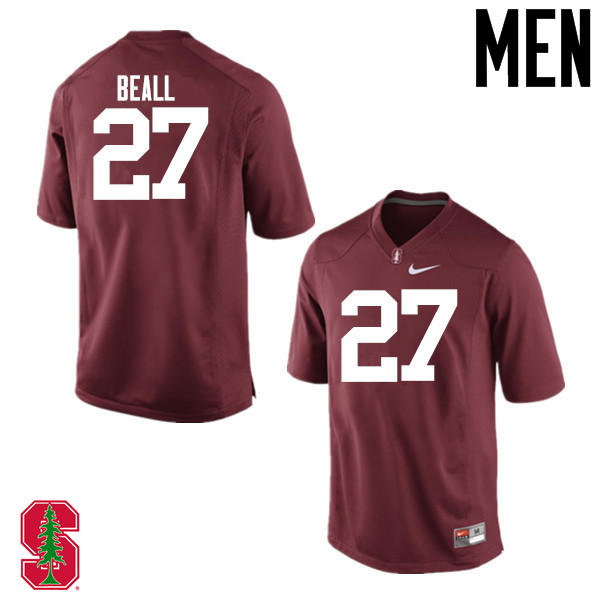 Men Stanford Cardinal #27 Charlie Beall College Football Jerseys Sale-Cardinal
