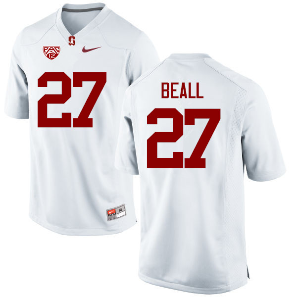 Men Stanford Cardinal #27 Charlie Beall College Football Jerseys Sale-White