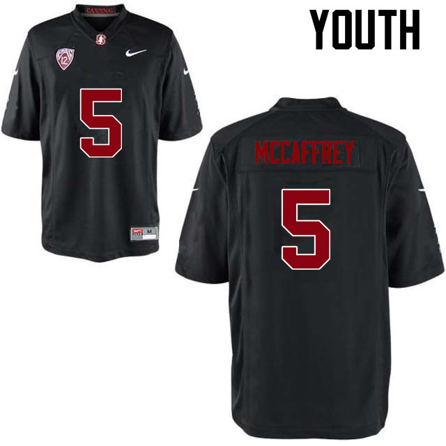Youth Stanford Cardinal #5 Christian McCaffrey College Football Jerseys Sale-Black