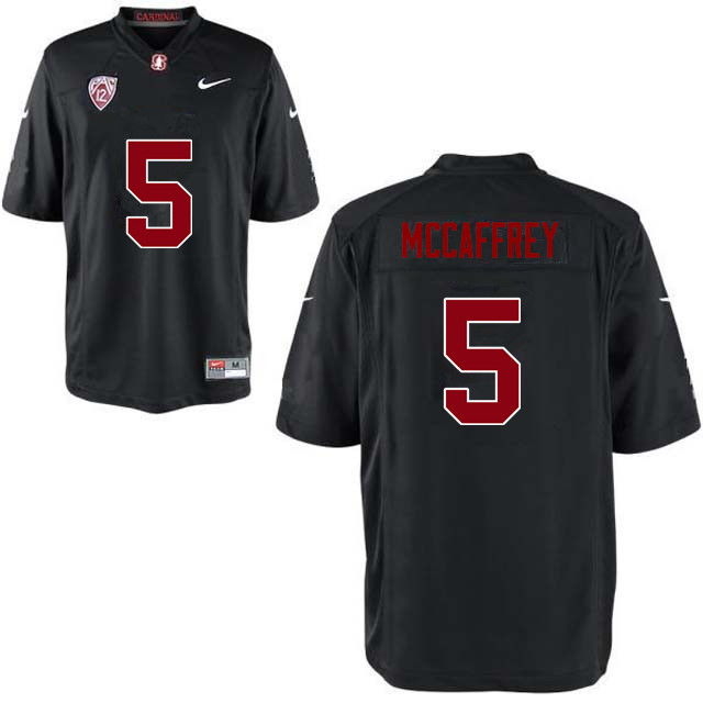Men Stanford Cardinal #5 Christian McCaffrey College Football Jerseys Sale-Black