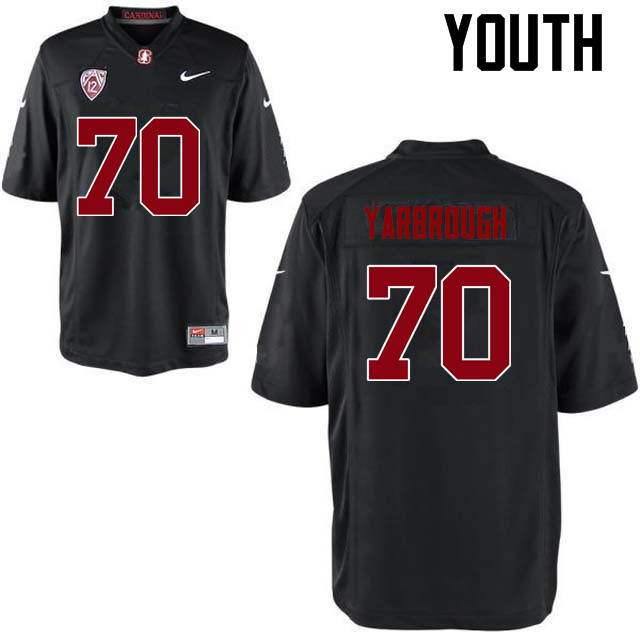 Youth Stanford Cardinal #70 Clark Yarbrough College Football Jerseys Sale-Black