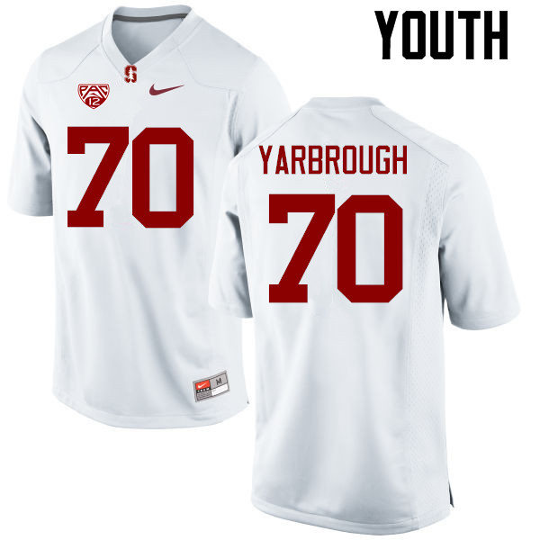 Youth Stanford Cardinal #70 Clark Yarbrough College Football Jerseys Sale-White