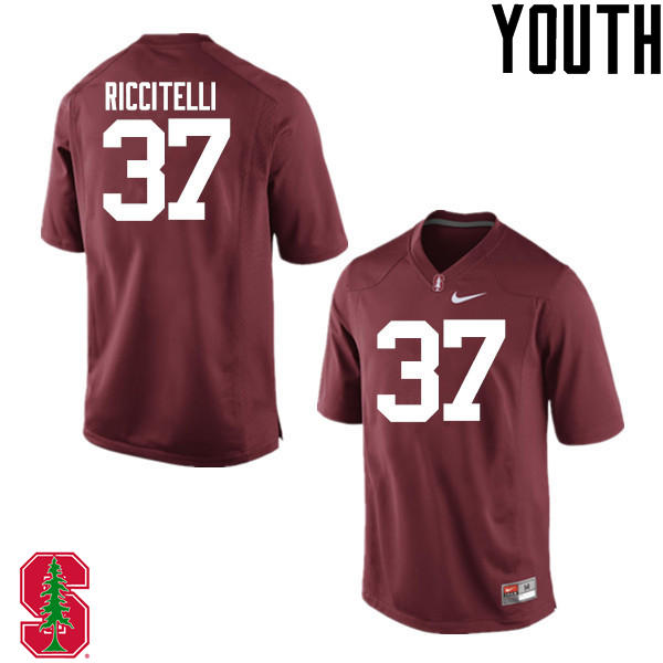 Youth Stanford Cardinal #37 Collin Riccitelli College Football Jerseys Sale-Cardinal