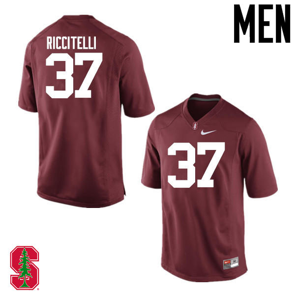 Men Stanford Cardinal #37 Collin Riccitelli College Football Jerseys Sale-Cardinal