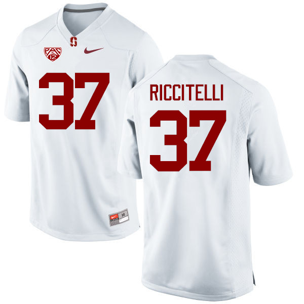 Men Stanford Cardinal #37 Collin Riccitelli College Football Jerseys Sale-White