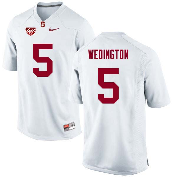 Men Stanford Cardinal #5 Connor Wedington College Football Jerseys Sale-White