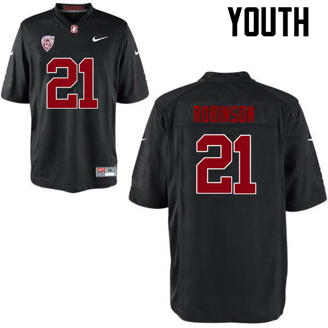 Youth Stanford Cardinal #21 Curtis Robinson College Football Jerseys Sale-Black