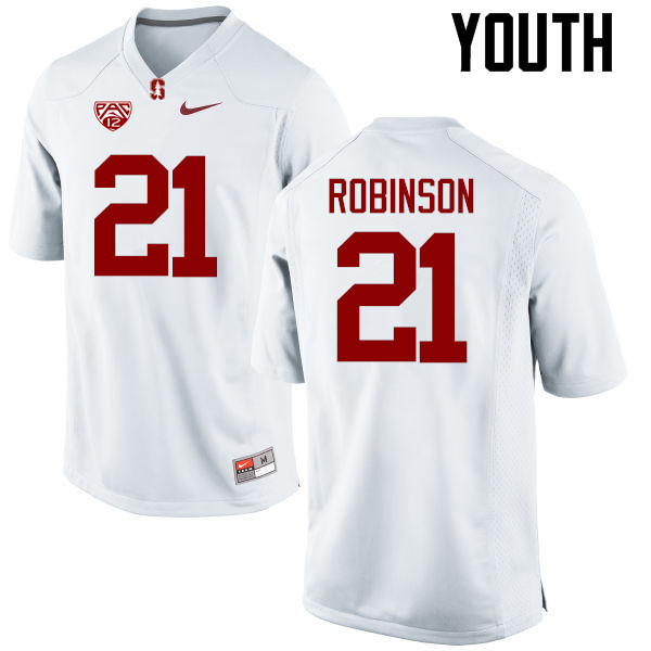 Youth Stanford Cardinal #21 Curtis Robinson College Football Jerseys Sale-White