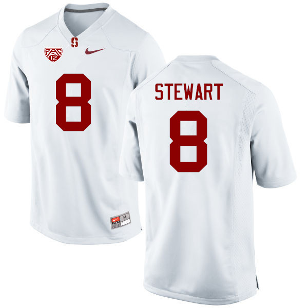 Men Stanford Cardinal #8 DOnald Stewart College Football Jerseys Sale-White