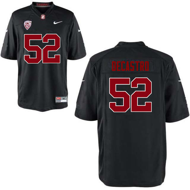 Men Stanford Cardinal #52 David DeCastro College Football Jerseys Sale-Black