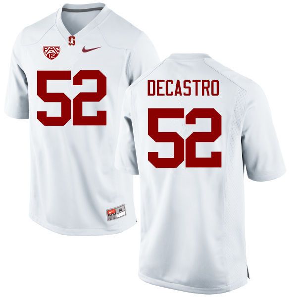 Men Stanford Cardinal #52 David DeCastro College Football Jerseys Sale-White