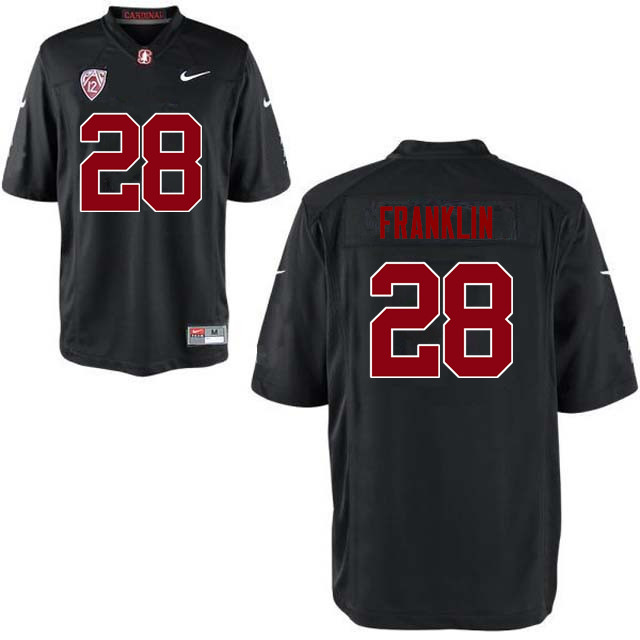 Men Stanford Cardinal #28 Denzel Franklin College Football Jerseys Sale-Black