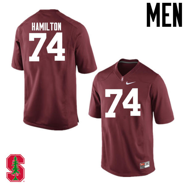 Men Stanford Cardinal #74 Devery Hamilton College Football Jerseys Sale-Cardinal