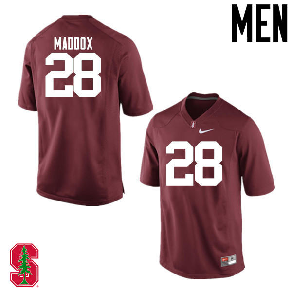 Men Stanford Cardinal #28 Dorian Maddox College Football Jerseys Sale-Cardinal