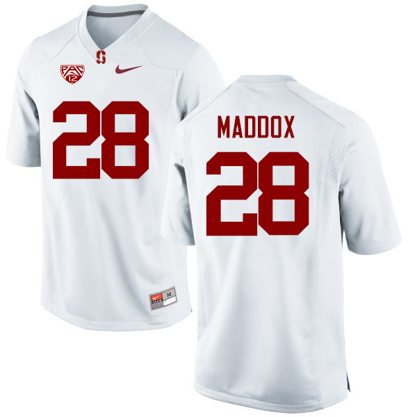 Men Stanford Cardinal #28 Dorian Maddox College Football Jerseys Sale-White