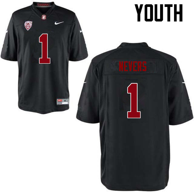 Youth Stanford Cardinal #1 Ernie Nevers College Football Jerseys Sale-Black
