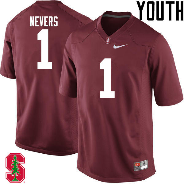 Youth Stanford Cardinal #1 Ernie Nevers College Football Jerseys Sale-Cardinal