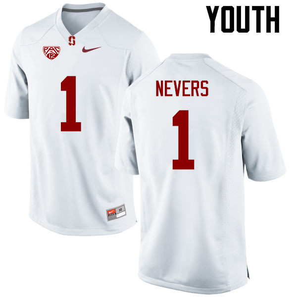 Youth Stanford Cardinal #1 Ernie Nevers College Football Jerseys Sale-White