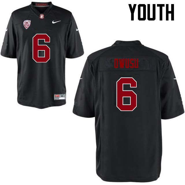 Youth Stanford Cardinal #6 Francis Owusu College Football Jerseys Sale-Black