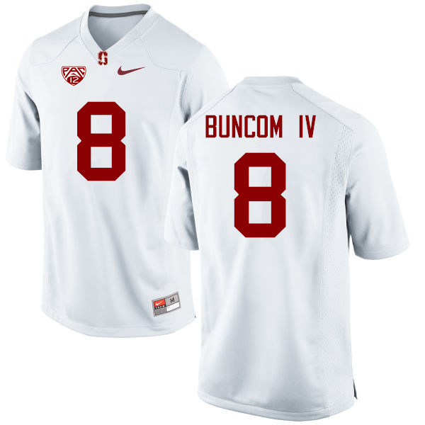 Men Stanford Cardinal #8 Frank Buncom IV College Football Jerseys Sale-White