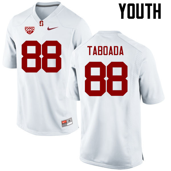Youth Stanford Cardinal #88 Greg Taboada College Football Jerseys Sale-White