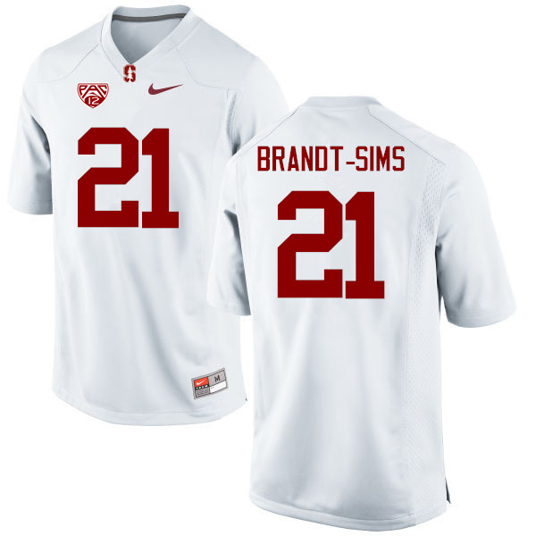 Men Stanford Cardinal #21 Isaiah Brandt-Sims College Football Jerseys Sale-White