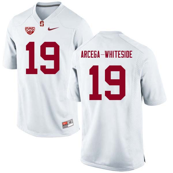 Men Stanford Cardinal #19 J.J. Arcega-Whiteside College Football Jerseys Sale-White