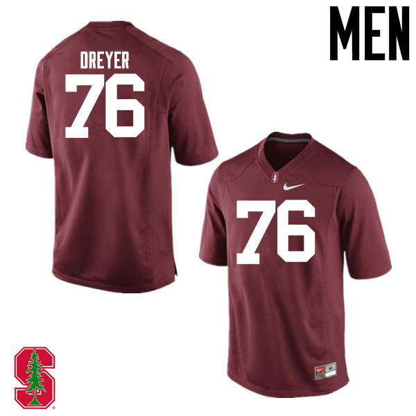 Men Stanford Cardinal #76 Jack Dreyer College Football Jerseys Sale-Cardinal