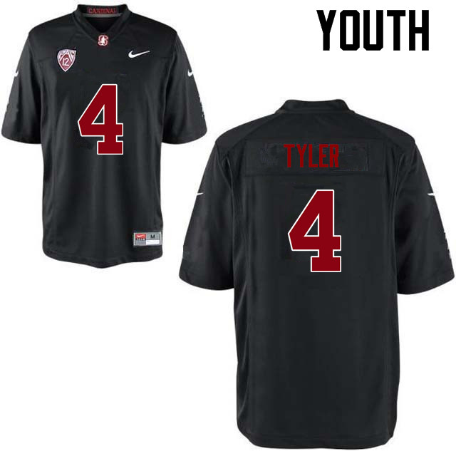 Youth Stanford Cardinal #4 Jay Tyler College Football Jerseys Sale-Black