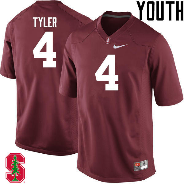 Youth Stanford Cardinal #4 Jay Tyler College Football Jerseys Sale-Cardinal