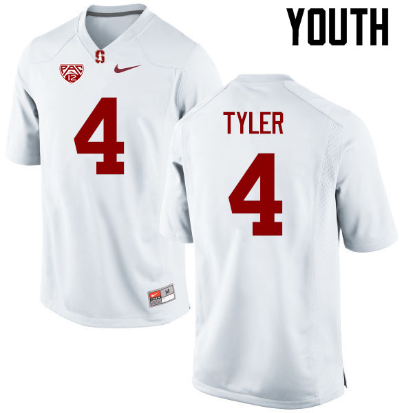 Youth Stanford Cardinal #4 Jay Tyler College Football Jerseys Sale-White