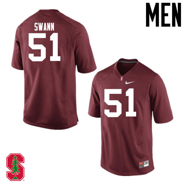 Men Stanford Cardinal #51 Jovan Swann College Football Jerseys Sale-Cardinal