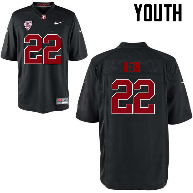 Youth Stanford Cardinal #22 Justin Reid College Football Jerseys Sale-Black