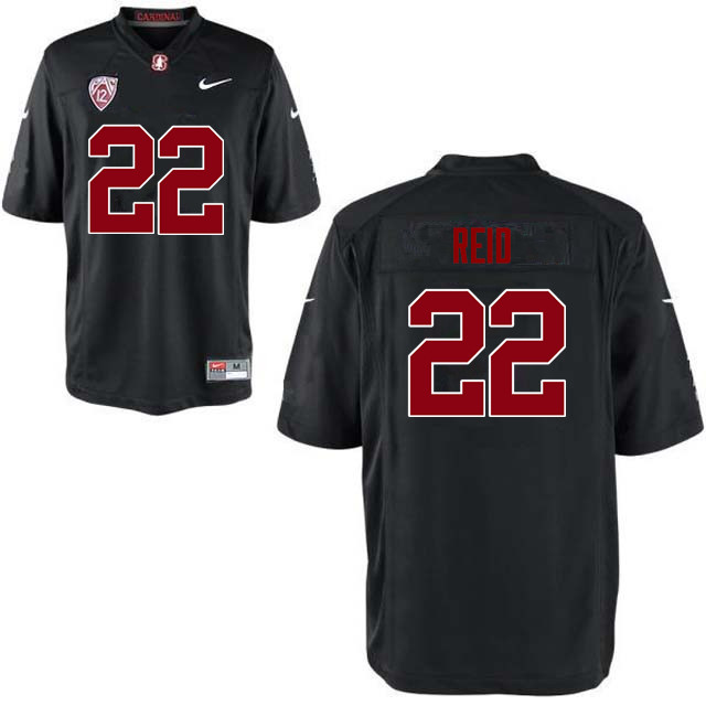 9e20b2534 Men Stanford Cardinal #22 Justin Reid College Football Jerseys Sale-Black