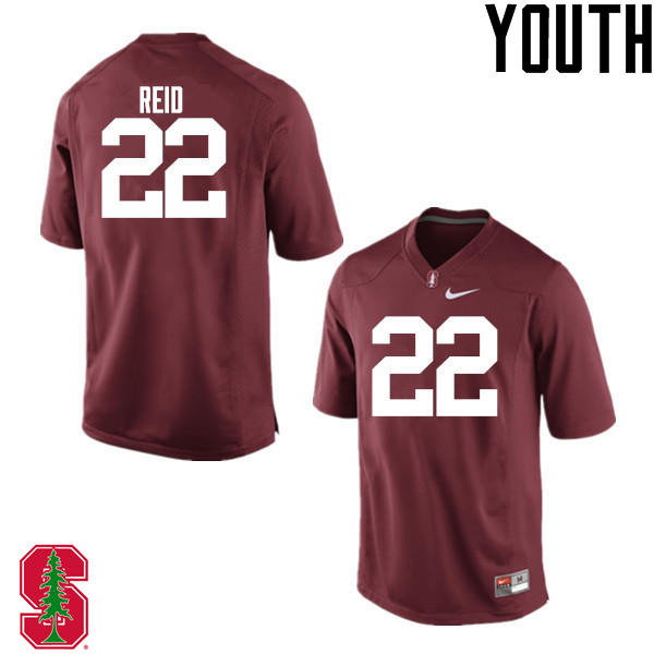 Youth Stanford Cardinal #22 Justin Reid College Football Jerseys Sale-Cardinal