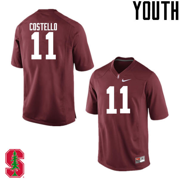 Youth Stanford Cardinal #11 K.J. Costello College Football Jerseys Sale-Cardinal