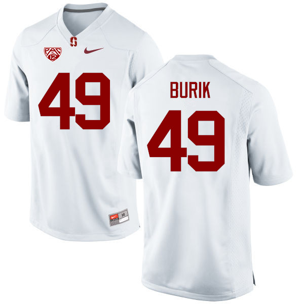 Men Stanford Cardinal #49 Lewis Burik College Football Jerseys Sale-White
