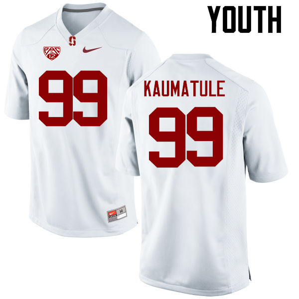 Youth Stanford Cardinal #99 Luke Kaumatule College Football Jerseys Sale-White