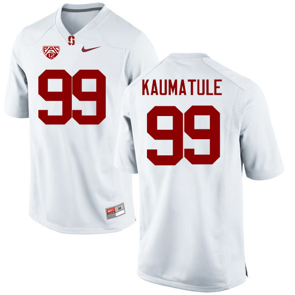 Men Stanford Cardinal #99 Luke Kaumatule College Football Jerseys Sale-White