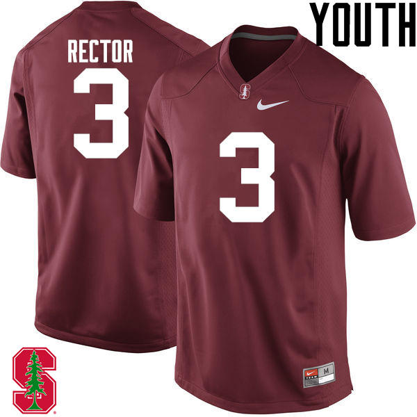 Youth Stanford Cardinal #3 Michael Rector College Football Jerseys Sale-Cardinal
