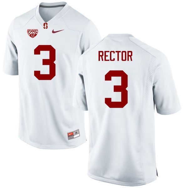 Men Stanford Cardinal #3 Michael Rector College Football Jerseys Sale-White