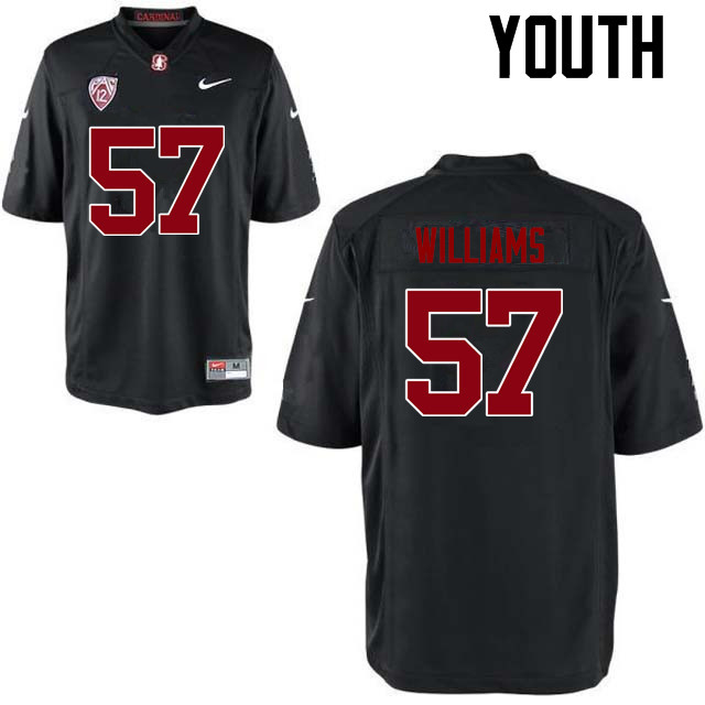 Youth Stanford Cardinal #57 Michael Williams College Football Jerseys Sale-Black