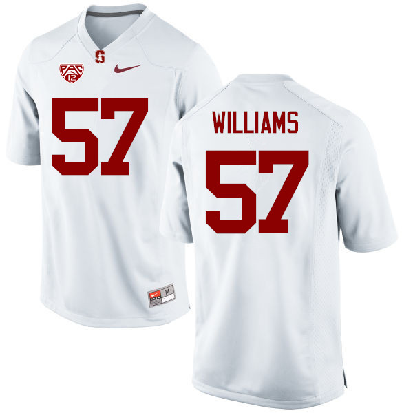 Men Stanford Cardinal #57 Michael Williams College Football Jerseys Sale-White